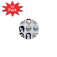 Worst Heroes Ever 1  Mini Buttons (10 Pack)  by lvbart