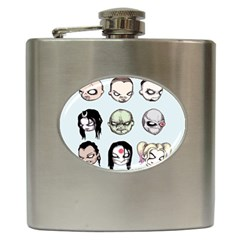 Worst Heroes Ever Hip Flask (6 Oz) by lvbart