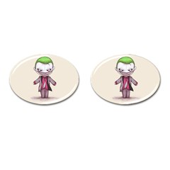 Suicide Clown Cufflinks (oval) by lvbart