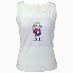 Suicide Harley Women s White Tank Top by lvbart