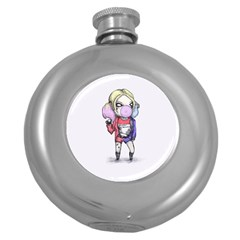 Suicide Harley Round Hip Flask (5 Oz) by lvbart
