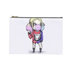 Suicide Harley Cosmetic Bag (large)  by lvbart