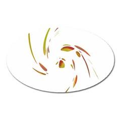 Orange Twist Oval Magnet by Valentinaart