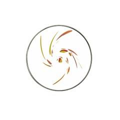 Orange Twist Hat Clip Ball Marker by Valentinaart