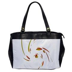 Orange Twist Office Handbags by Valentinaart