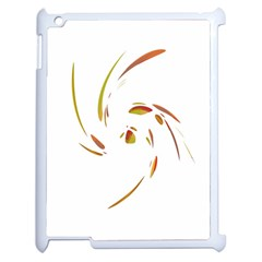 Orange Twist Apple Ipad 2 Case (white) by Valentinaart
