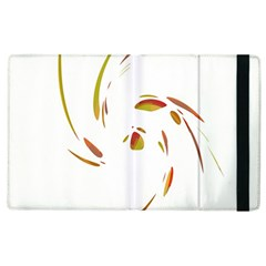 Orange Twist Apple Ipad 3/4 Flip Case by Valentinaart