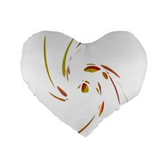 Orange Twist Standard 16  Premium Heart Shape Cushions by Valentinaart
