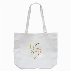 Orange Twist Tote Bag (white) by Valentinaart