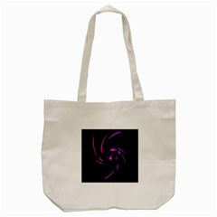 Purple Twist Tote Bag (cream) by Valentinaart