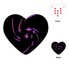 Purple Twist Playing Cards (heart)  by Valentinaart