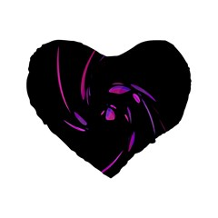 Purple Twist Standard 16  Premium Heart Shape Cushions by Valentinaart