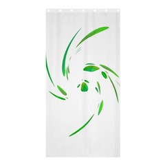 Green Twist Shower Curtain 36  X 72  (stall)  by Valentinaart