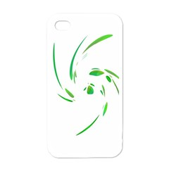 Green Twist Apple Iphone 4 Case (white) by Valentinaart