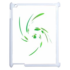 Green Twist Apple Ipad 2 Case (white) by Valentinaart