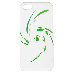 Green Twist Apple Iphone 5 Hardshell Case by Valentinaart