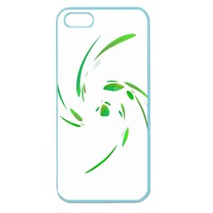 Green Twist Apple Seamless Iphone 5 Case (color) by Valentinaart
