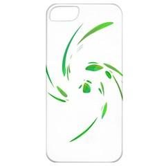 Green Twist Apple Iphone 5 Classic Hardshell Case by Valentinaart