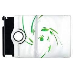 Green Twist Apple Ipad 3/4 Flip 360 Case by Valentinaart