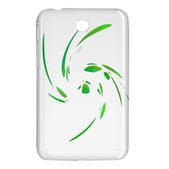Green Twist Samsung Galaxy Tab 3 (7 ) P3200 Hardshell Case  by Valentinaart