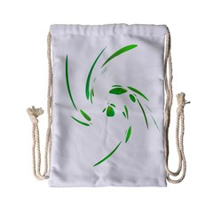Green Twist Drawstring Bag (small) by Valentinaart