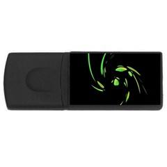 Green Twist Usb Flash Drive Rectangular (4 Gb)  by Valentinaart