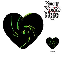 Green Twist Multi Purpose Cards (heart)  by Valentinaart
