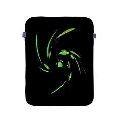 Green Twist Apple Ipad 2/3/4 Protective Soft Cases by Valentinaart