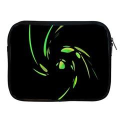 Green Twist Apple Ipad 2/3/4 Zipper Cases by Valentinaart