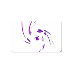 Purple Twist Magnet (name Card) by Valentinaart
