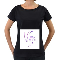 Purple twist Women s Loose-Fit T-Shirt (Black) by Valentinaart