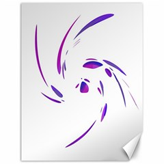 Purple Twist Canvas 12  X 16   by Valentinaart