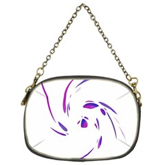 Purple Twist Chain Purses (two Sides)  by Valentinaart
