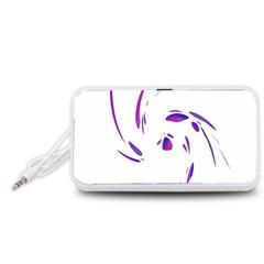 Purple twist Portable Speaker (White)  by Valentinaart