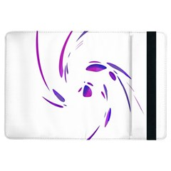Purple Twist Ipad Air Flip by Valentinaart