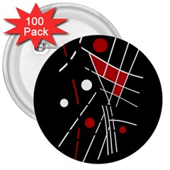 Artistic Abstraction 3  Buttons (100 Pack)  by Valentinaart
