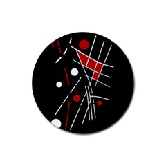 Artistic abstraction Rubber Round Coaster (4 pack)  by Valentinaart
