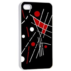 Artistic Abstraction Apple Iphone 4/4s Seamless Case (white) by Valentinaart