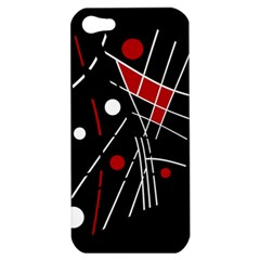 Artistic Abstraction Apple Iphone 5 Hardshell Case by Valentinaart