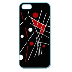 Artistic Abstraction Apple Seamless Iphone 5 Case (color) by Valentinaart