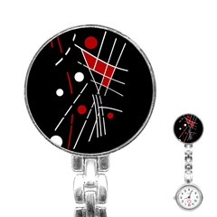 Artistic Abstraction Stainless Steel Nurses Watch by Valentinaart