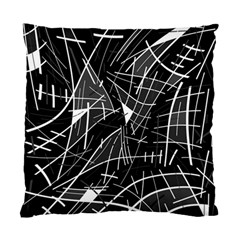 Gray abstraction Standard Cushion Case (Two Sides) by Valentinaart