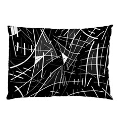 Gray Abstraction Pillow Case (two Sides) by Valentinaart