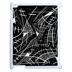 Gray Abstraction Apple Ipad 2 Case (white) by Valentinaart