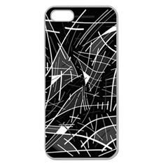 Gray Abstraction Apple Seamless Iphone 5 Case (clear) by Valentinaart