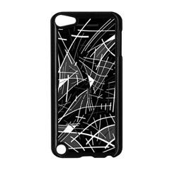 Gray Abstraction Apple Ipod Touch 5 Case (black) by Valentinaart