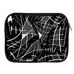 Gray Abstraction Apple Ipad 2/3/4 Zipper Cases by Valentinaart