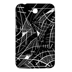 Gray Abstraction Samsung Galaxy Tab 3 (7 ) P3200 Hardshell Case  by Valentinaart