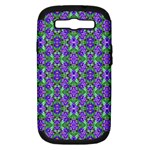 Pretty Purple Flowers Pattern Samsung Galaxy S III Hardshell Case (PC+Silicone)