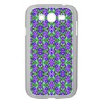 Pretty Purple Flowers Pattern Samsung Galaxy Grand DUOS I9082 Case (White)